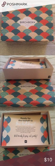 🎁 NIB BIRCHBOX Gift Box + Products NIB BIRCHBOX  Gift Box. New unused  products. Includes Hydrating Eye Pads, Hair Therapy Shampoo + Oil Treatment, Body Creme, CC Creme w/Omega 3, Mega Brow Liner in Brown & Blow Dry Heat Protection Creme. Perfect Holiday Gift or Travel Set!💕 Birchbox Makeup