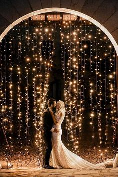 18 Whimsical Winter Wedding Arches and Backdrops - Oh Best Day Ever string lights wedding backdrop ideas. Cute Wedding Ideas, Perfect Wedding, Dream Wedding, Wedding Day, Wedding Inspiration, Wedding Bride, Wedding Shoes, Light Wedding, Wedding Hacks