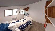 camera-copii-baieti Decor, Interior Design, Furniture, Bed, Home, Interior, Studio, Home Decor