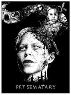 ~~Pet Sematary - Alexandros Pyromallis ----A Stephen King Classic. Horror Movie Posters, Movie Poster Art, Horror Movies, Pet Sematary, Scary Movies, Great Movies, Stephen King Movies, Steven King, King Art