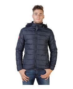 Geographical norway - giubbotto uomo con cappuccio rimovibile - esterno 100% poliammide, rivestimento e imbottitura 100% - Giacca uomo  Blu