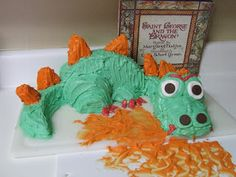 St. George's Feast Day April 23rd. Dragon cake. Catholic family