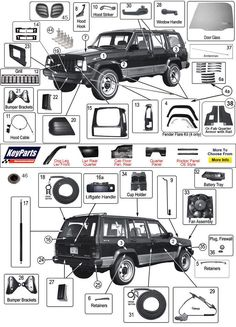 Jeep Cherokee XJ | Jeep Body Parts| Morris 4x4 Center