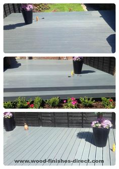 sent in by one of our customers who used Ronseal Ultimate Decking Stain. http://www.wood-finishes-direct.com/product/ronseal-ultimate-protection-decking-stain
