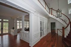 Foyer and staircase remodel built by J. Allen Smith Design Build located in Frederick MD