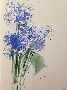 ORIGINAL AQUARELL Wiesenblumen Aquarellpostkarte Art Kunst