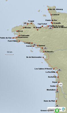 Bildergebnis für atlantikküste frankreich karte
