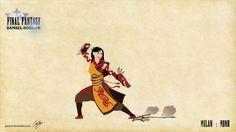The battle: Disney Princesses as Final Fantasy characters: Mulan - Monk