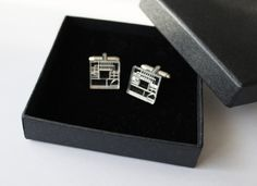staircase cufflinks by CutOutsProductDesign on Etsy