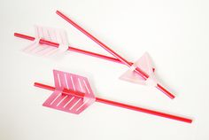 arrow straws-these would be cool for a cowboy/indian party, or Hunger games party...
