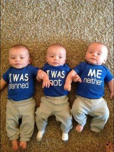 Adorable Baby onesies for #multiples #triplets