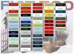auto paint codes | Original Fiat 500 colors 1957 – 1977, divided into periods and ...