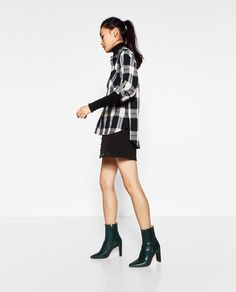 Image 7 of OVERSIZED CHECK SHIRT from Zara