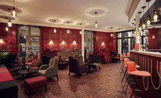 Montpellier's Grand Hotel du Midi has just hadan overhaul, courtesy of designer Julie Gauthron, who enhanced the original staircases, stained glass windows and ornate ceilings of the 1876 Haussmannian building with unexpected colour associations fr...