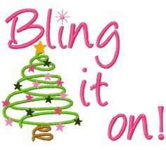 Christmas Embroidery Design Bling It On  With by DazzlinStitches, $1.99