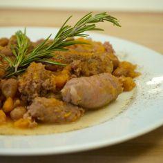 Le ricette di Cukò: SALSICCE CON FAGIOLI BORLOTTI