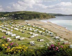 Pentewan Sands, Cornwall 1960s