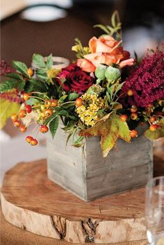 Beautiful Fall arrangement in Fresh - Perennial Designs will design it for you in permanent botanicals to last the whole season!