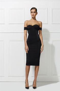 Misha Collection Chloe Dress Black - Niki Belle