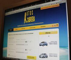 """Página web de alquiler de coches en Lanzarote y Fuerteventura """"Autos Cabrera"""""""