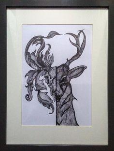 Deer skull drawing | The Deer Kind | Pinterest | Skull ...