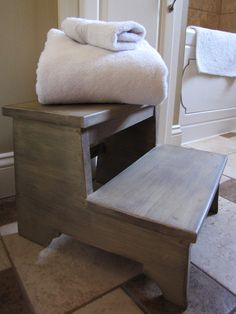 Our bathroom step stool | Do It Yourself Home Projects from Ana White