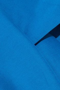Halston Heritage - Cold-shoulder Cotton And Silk-blend Mini Dress - Blue