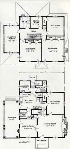 1926 Standard House Plans The Carlyle home plans Pinterest