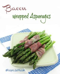 Looking for a great side dish or party appetizer? This bacon wrapped asparagus recipe is easy to make and tastes amazing. You can make it with any cured meat. Low Carb Side Dishes, Healthy Side Dishes, Side Dish Recipes, Vegetable Recipes, Healthy Foods, Whole 30 Recipes, Great Recipes, Fancy Recipes, Paleo Recipes