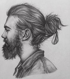 Stunning drawing done by @F6SJ_ on Instagram a hairstyle #artgallery #artistsoninstagram #artoftheday #arts #arte #artwork #artist #art #hairstyle #hairstylist #hairgoals #hair #hairbun #menhair #pencildrawing #pencil #sketch #sketches }sketchbook #sketching #sketch_daily #style #sketchaday