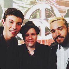 Shawn Mendes, Patrick Stump and Pete Wentz