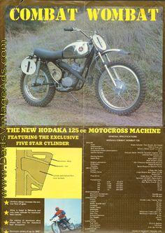 1973 Hodaka Combat Wombat 125 original brochure $19.99