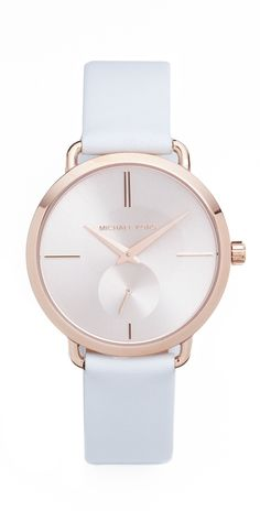 76aa0d4d175b Michael Kors Partia Leather Watch Michael Kors Jewelry