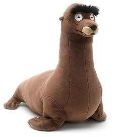 Disney Store Gerald Eyebrows Sealion Finding Dory Nemo Sea Lion Soft Toy Plush