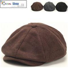 Men Wool Gatsby Eight Panel Newsboy Cap Brown Warm Flat hat Cabbie Golf  Beret  9442aeb71d6