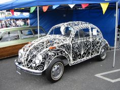 Wedding VW Bug.  It's believed that VW actually made about a dozen of these.
