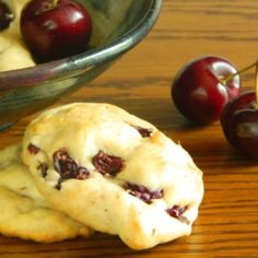 Sour Cream & Cherry Cookies...taste too luscious to be sugar free, but they are.