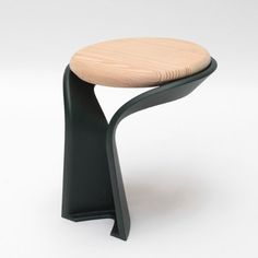 """""""Poa"""" stool, urban furniture collection combining wooden pieces with cast-iron - designed by Studio BrichetZielger for the editor Axurbain"""