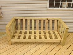 DIY patio furniture couch, add some cushions and this will be so cute on our patio by the pool :))