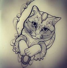 17cc5bb55767feb3d50b3c4b3875acbf--tatto-cat-cat-tattoos.jpg (583×595)