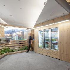 Kilogram+Studio+designs+cedar-lined+interior+for+Toronto+juice+bar