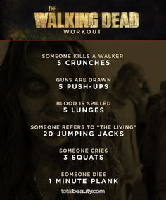 the walking dead workout - Google Search