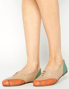 Zapatos de cuero con cordones JOB ON de ASOS