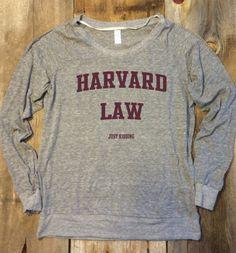 Harvard Law just kidding Pullover by MandysPrints on Etsy