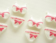 4 pcs Bra and Pantie Cabochon (18mm-25mm) DR403 on Etsy, £2.19