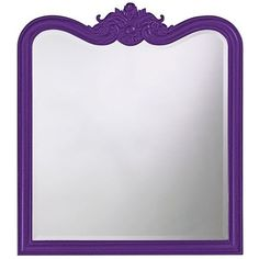 Eliza Glossy Royal Purple Rectangle Mirror