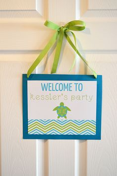 Sea Turtle Birthday Party Ideas   Photo 1 of 15   Catch My Party