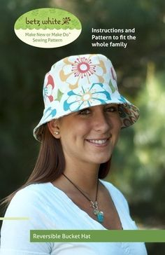 Bucket Hat for adults nsewing pattern by Betz White | The best sewing patterns for women, girls, toys and more. Go To Patterns & Co.