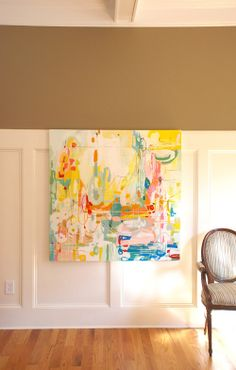 love Michelle Armas's work. great way to bring color into a neutral room.