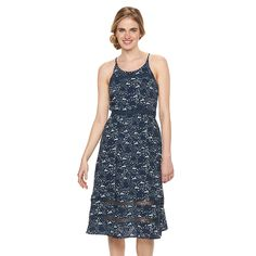 Disney's Alice In Wonderland a Collection by LC Lauren Conrad Print Midi Dress - Women's